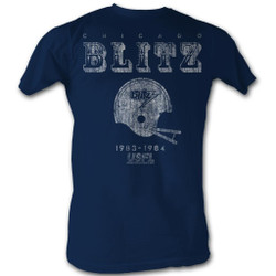 Image for U.S. Football League T-Shirt - Chicago Blitz
