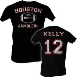 Image for U.S. Football League T-Shirt - Houston Gamblers Kelly 12