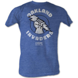Image for U.S. Football League Heather T-Shirt - Oakland Invaders