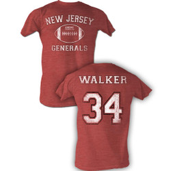 Image for U.S. Football League Heather T-Shirt - New Jersey Generals Walker 34