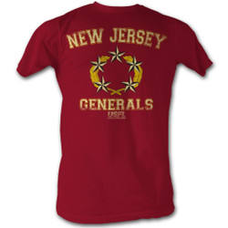 Image for U.S. Football League T-Shirt - New Jersey Generals 5 Star Logo