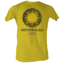 Image for U.S. Football League T-Shirt - Denver Gold