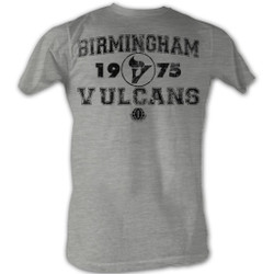Image for World Football League Heather T-Shirt - Birmigham Vulcans