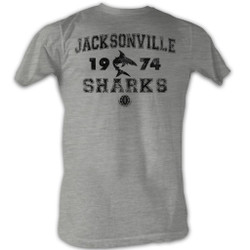 Image for World Football League Heather T-Shirt - Jacksonville Sharks