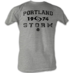 Image for World Football League Heather T-Shirt - Portland Storm