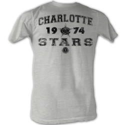 Image for World Football League Heather T-Shirt - Charlotte Stars 1974