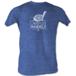 Image for World Football League Heather T-Shirt - Wheels