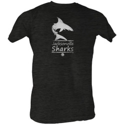 Image for World Football League Heather T-Shirt - Sharks