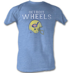 Image for World Football League Heather T-Shirt - Wheel