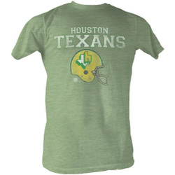 Image for World Football League Heather T-Shirt - Houston Texans Helmet