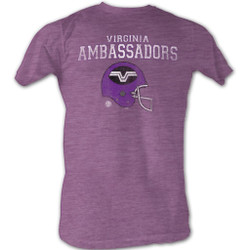Image for World Football League Heather T-Shirt - Virginia Ambassadors Helmet