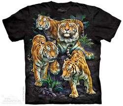 Image for The Mountain T-Shirt - Bengal Tiger Collage