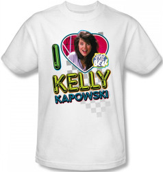 Image Closeup for Saved by the Bell I Love Kelly Kapowski T-Shirt