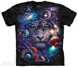 Image for The Mountain T-Shirt - White Tiger Cosmos