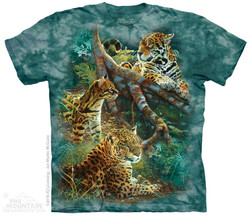 Image for The Mountain T-Shirt - Three Jungle Cats