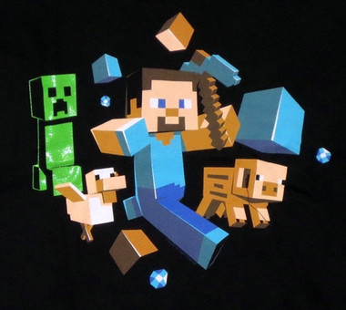 Minecraft T-Shirt - Run Away Image 1