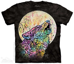Image for The Mountain T-Shirt - Russo Howling Wolf