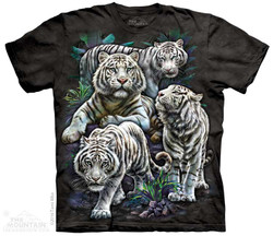 Image for The Mountain Youth T-Shirt - Majestic White Tigers