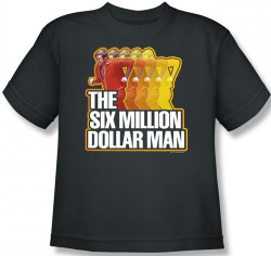 Image for Six Million Dollar Man Run Fast Youth T-Shirt