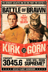 Image for Star Trek Poster - Kirk vs. Gorn