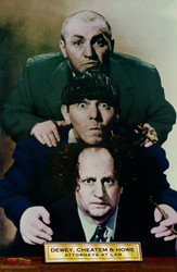 Image for The Three Stooges Poster - Dewey, Cheatem & Howe Attorneys at Law