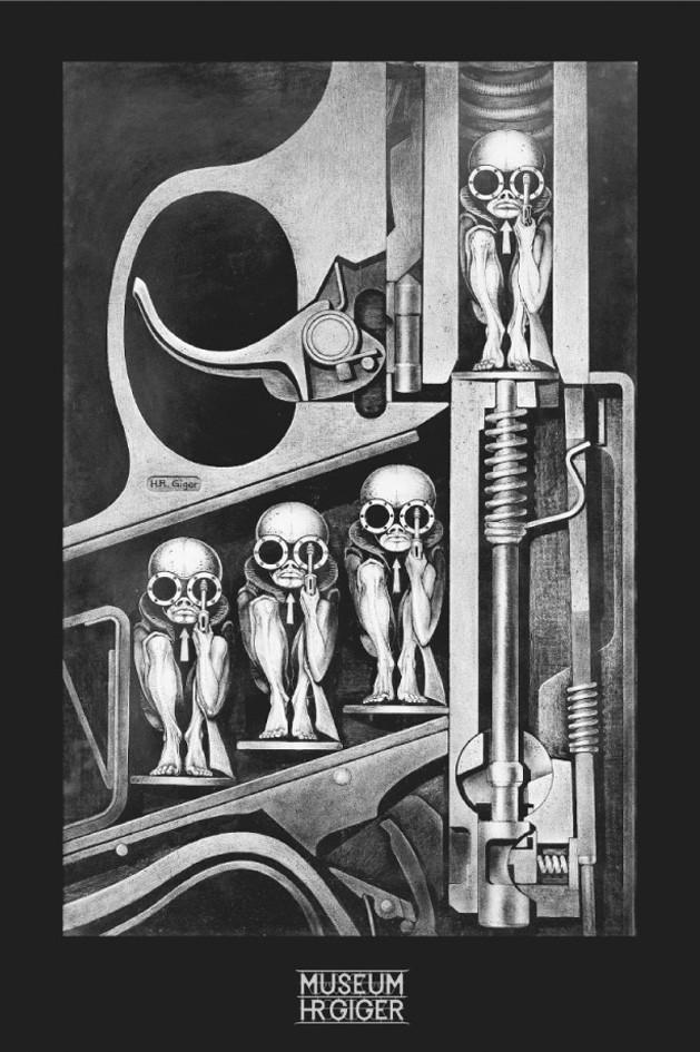 H R Giger Poster Birth Machine Nerdkungfu