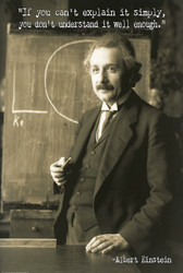 Image for Albert Einstein Poster - If You Can't Explain it Simply You Don't Understand It