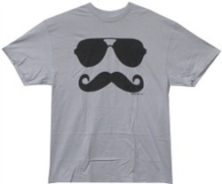 Image Closeup for Mustache and Shades T-Shirt
