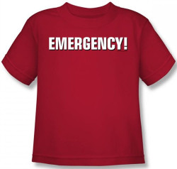 Image for Emergency! Logo Kids T-Shirt