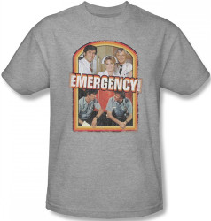 Image Closeup for Emergency! Retro Cast T-Shirt