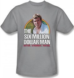 Image Closeup for Six Million Dollar Man Better. Stronger. Faster. T-Shirt