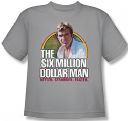 Image for Six Million Dollar Man Better. Stronger. Faster. Youth T-Shirt