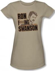 Image for Parks & Rec Ron F***ing Swanson Girls Shirt