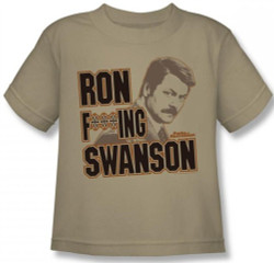 Image for Parks & Rec Ron F***ing Swanson Kids T-Shirt