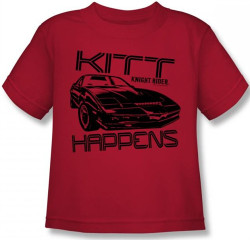 Image for Knight Rider KITT Happens Kids T-Shirt
