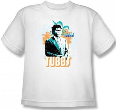 Image for Miami Vice Tubbs Youth T-Shirt
