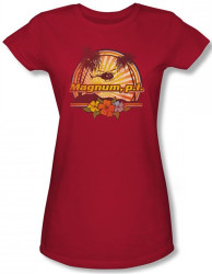 Image for Magnum PI Hawaiian Sunset Girls Shirt