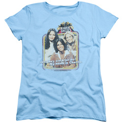 Image for Charlies Angels Womans T-Shirt - Now They Work for Me