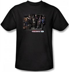 Image Closeup for Warehouse 13 Warehouse Cast T-Shirt
