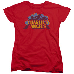 Image for Charlies Angels Womans T-Shirt - Faded Logo