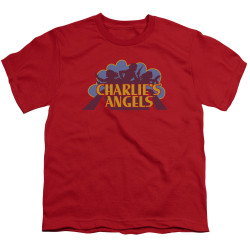 Image for Charlies Angels Youth T-Shirt - Faded Logo
