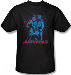 Image Closeup for Airwolf Graphic T-Shirt