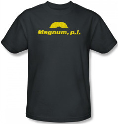 Image Closeup for Magnum PI the Stache T-Shirt