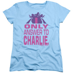 Image for Charlies Angels Womans T-Shirt - Answer