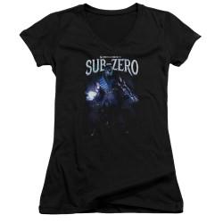 Image for Mortal Kombat Girls V Neck - Sub-Zero
