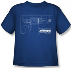 Image for Warehouse 13 Tesla Gun Blueprints Kids T-Shirt