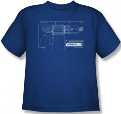 Image for Warehouse 13 Tesla Gun Blueprints Youth T-Shirt