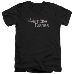 Image for Vampire Diaries V Neck T-Shirt - Logo
