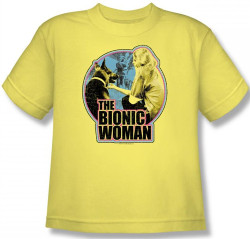 Image for The Bionic Woman Jamie and Maximillian Youth T-Shirt