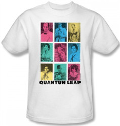 Image Closeup for Quantum Leap Faces of Sam T-Shirt